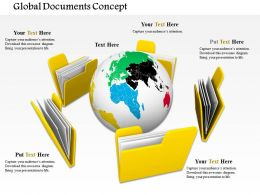 0714 Global Documents Concept Diagram Image Graphics For Powerpoint