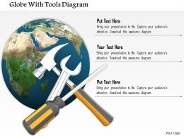 0714 Globe With Tools Diagram Image Graphics For Powerpoint