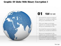 0714 Graphic Of Globe With Binary Encryption Image Graphics For Powerpoint