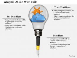 0714 Graphic Of Sun With Bulb Diagram Image Graphics For Powerpoint