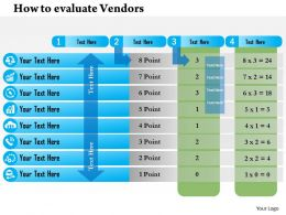 0714 How To Evaluate Vendors Powerpoint Presentation Slide Template