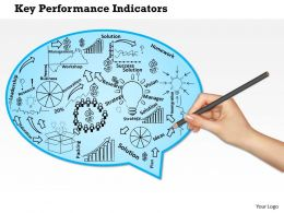 0714 Key Performance Indicators Of A Company Powerpoint Presentation Slide Template