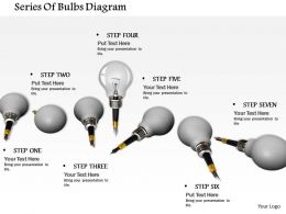 0714 Series Of Bulbs Diagram Image Graphics For Powerpoint