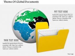 0714 Theme Of Global Documents Diagram Image Graphics For Powerpoint