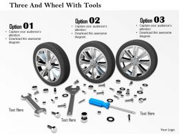 0714 Three And Wheel With Tools Image Graphics For Powerpoint