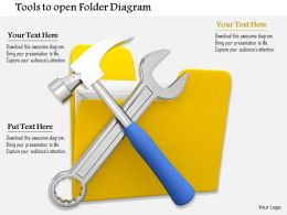 0714 Tools To Open Folder Diagram Image Graphics For Powerpoint