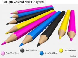 0714 Unique Colored Pencil Diagram Image Graphics For Powerpoint