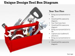 0714 Unique Design Tool Box Diagram Image Graphics For Powerpoint