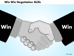 0714 Win Win Negotiation Skills Powerpoint Presentation Slide Template