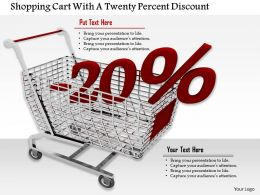 0814 20 Percent Discount Value On Shopping Cart Image Graphics For Powerpoint