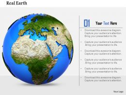 0814 3d Graphic Of Earth In Globe Form Image Graphics For Powerpoint