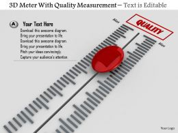 0814 3d Meter With Quality Measurement Image Graphics For Powerpoint