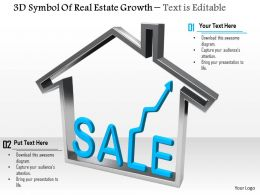0814 3d Symbol Of Real Estate Growth Image Graphics For Powerpoint
