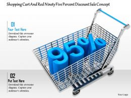 0814 95 Percent Discount On Shopping Cart Image Graphics For Powerpoint