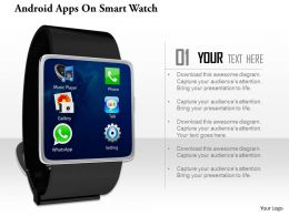 0814 Android Apps On Smart Watch Image Graphics For Powerpoint