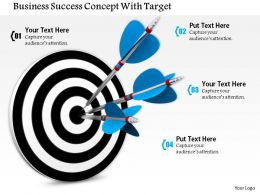 0814 Black Dart With Multiple Arrows Hitting Bulls Eye Image Graphics For Powerpoint