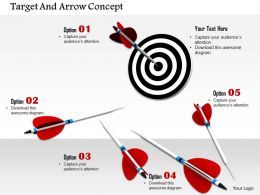0814 Black Dart With Multiple Arrows To Display Target Image Graphics For Powerpoint