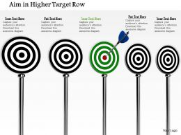 0814 Black Target Darts With One Green To Show Target Achievement Image Graphics For Powerpoint