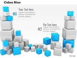 0814 Blue And White Cubes Design For Business Image Graphics For Powerpoint