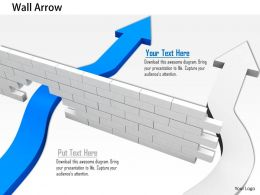 0814_blue_arrow_breaking_the_wall_while_white_one_is_passing_through_image_graphics_for_powerpoint_Slide01