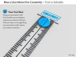 0814 Blue Color Meter For Creativity With Max Value Image Graphics For Powerpoint