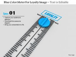 0814 Blue Color Meter For Loyalty Image Graphics For Powerpoint
