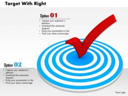 0814 Blue Dart With Red Right Symbol For Target Selection Image Graphics For Powerpoint