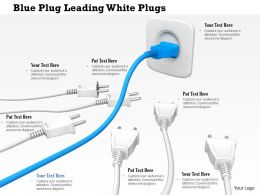 0814 Blue Plug Leading White Plugs Image Graphics For Powerpoint