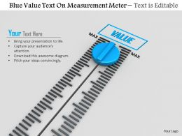 0814 Blue Value Text On Measurement Meter Image Graphics For Powerpoint