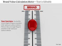 0814 Brand Value Calculation Meter With Red Button Image Graphics For Powerpoint