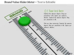 0814 Brand Value Slider Meter Image Graphics For Powerpoint