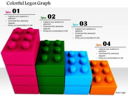 0814 Business Bar Graph Made By Colored Lego Blocks Image Graphics For Powerpoint
