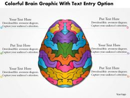 0814 Business Consulting Colorful Brain Graphic With Text Entry Option Powerpoint Slide Template