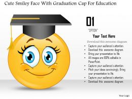 0814 Business Consulting Cute Smiley Face With Graduation Cap For Education Powerpoint Slide Template