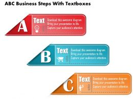 0814 Business Consulting Diagram ABC Business Steps With Textboxes Powerpoint Slide Template