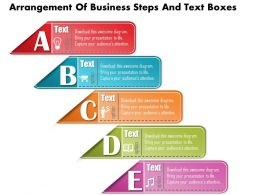 0814 Business Consulting Diagram Arrangement Of Business Steps And Text Boxes Powerpoint Slide Template
