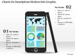 0814 Business Consulting Diagram Charts On Smartphone Modern Info Graphic Powerpoint Slide Template