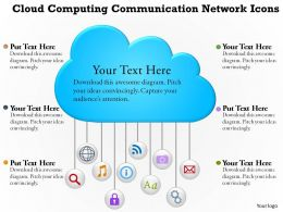 0814 Business Consulting Diagram Cloud Computing Communication Network Icons Powerpoint Slide Template