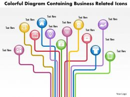 0814 Business Consulting Diagram Colorful Diagram Containing Business Related Icons Powerpoint Slide Template