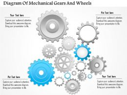 0814 Business Consulting Diagram Diagram Of Mechanical Gears And Wheels Powerpoint Slide Template