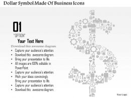 0814 Business Consulting Diagram Dollar Symbol Made Of Business Icons Powerpoint Slide Template