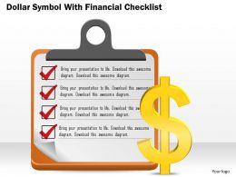0814 Business Consulting Diagram Dollar Symbol With Financial Checklist Powerpoint Slide Template