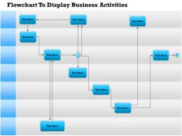 0814 Business Consulting Diagram Flowchart To Display Business Activities Powerpoint Slide Template