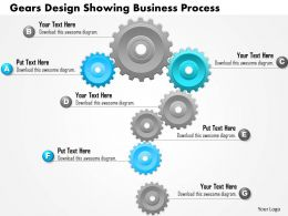 0814 Business Consulting Diagram Gears Design Showing Business Process Powerpoint Slide Template