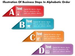 0814 Business Consulting Diagram Illustration Of Business Steps In Alphabetic Order Powerpoint Slide Template