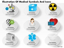 0814 Business consulting Diagram Illustration Of Medical Symbols And Icons Powerpoint Slide Template
