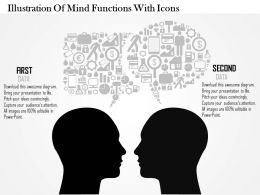0814 Business consulting Diagram Illustration Of Mind Functions With Icons Powerpoint Slide Template