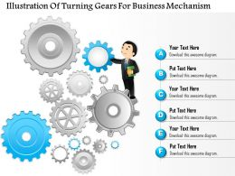 0814 Business consulting Diagram Illustration Of Turning Gears For Business Mechanism Powerpoint Slide Template
