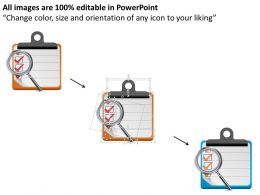 0814_business_consulting_diagram_magnifying_glass_over_checklist_to_check_performance_powerpoint_slide_template_Slide02