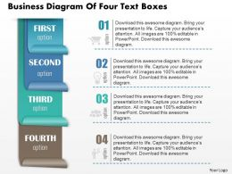 0814 Business consulting Diagram Of Four Text Boxes Powerpoint Slide Template